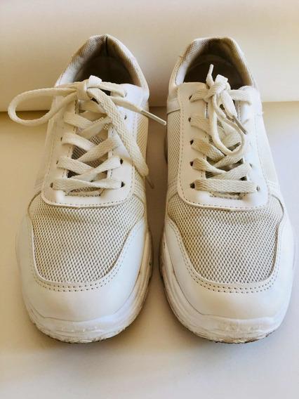 Zapatillas Blancas Importadas U.s.a Suela Alta V. Devoto