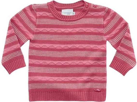Sweater Tricô Listrado Noruega Baby