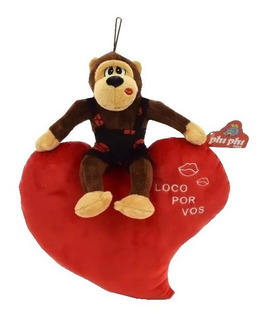 Peluche Mono Sobre Corazon Phi Phi Toy