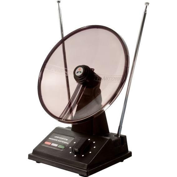 Antena Tv Interna Uhf / Vhf / Hdtv Mini Parabolica Oferta