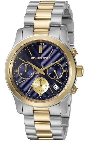 Relógio Michael Kors Mk6165 Misto Prata Dourado