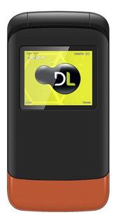 Telefone Celular Flip Dl Dual Fm Yc230lar - Preto/laranja