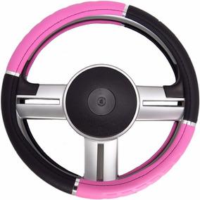 Capa Revestimento De Volante Sport Universal Rosa Com Preto