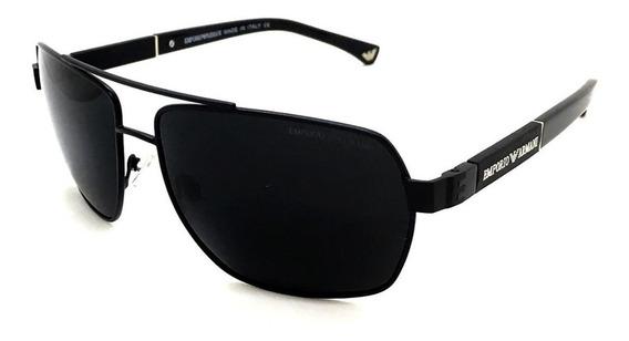 Oculos De Sol Masculino Ea3071 Armani Acetato Metal Uv400.