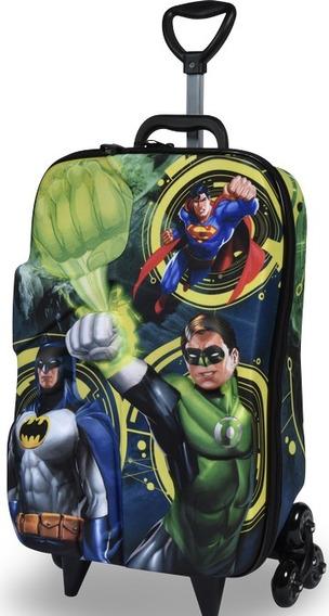 Mochilete Liga Da Justiça Lanterna Verde 3d Escolar Maxtoy