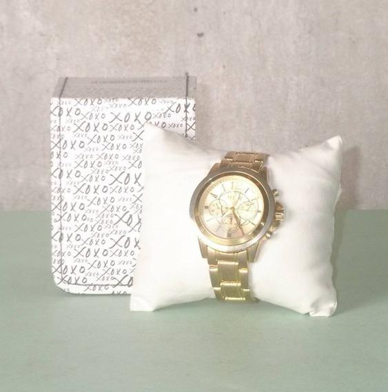 Relógio Dourado Xoxo Novo Na Caixa