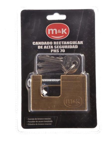 Candado Rectg M&k Alta Seg 70mm