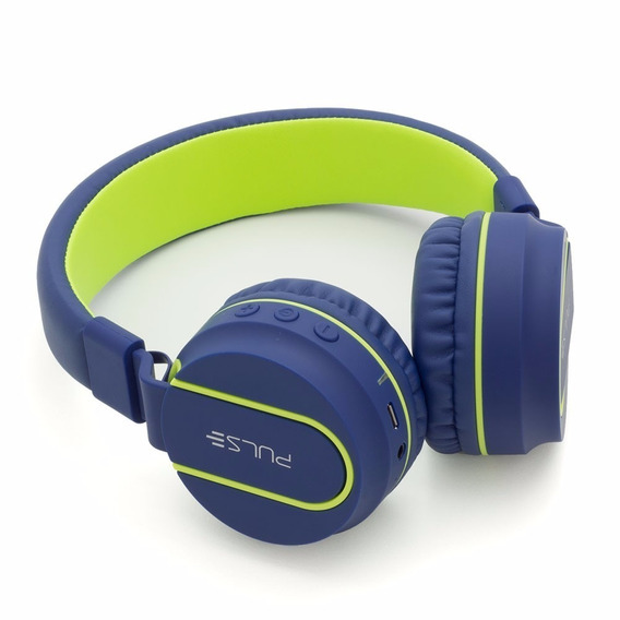 Headphone Pulse Bluetooth Ph218 Azul/verde C/nfe E Garantia