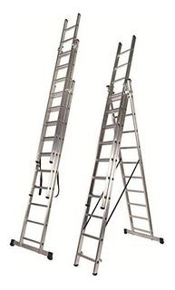Escalera Extensible Aluminio Tijera 3x11 8m Kulbart Egc