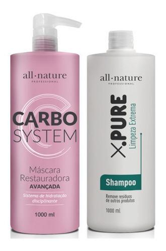 Kit Progressiva Carbocisteina 1000ml+shampoo X.pure Limpeza