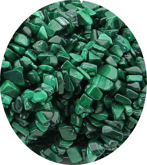 Cascalho Malaquita Verde Natural Colar 90cm Teostone 1210