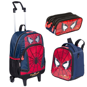 Kit Mochilete Homem Aranha Spider Man + Lancheira + Estojo