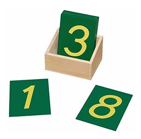 Números De Papel De Lija Montessori