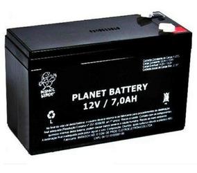 Bateria 12v 7a Planet Para Alarme Cerca Elétrica Nobreaks