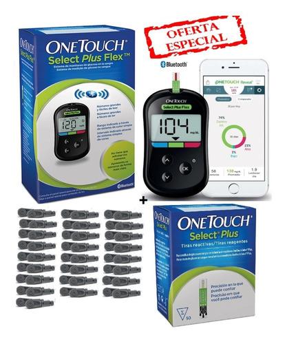 Glucometro One Touch Select Plus  + 50 Tiras + 50 Lancetas