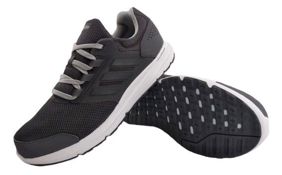 Zapatillas adidas Galaxy 4 Gris Running Hombre Full Eezap
