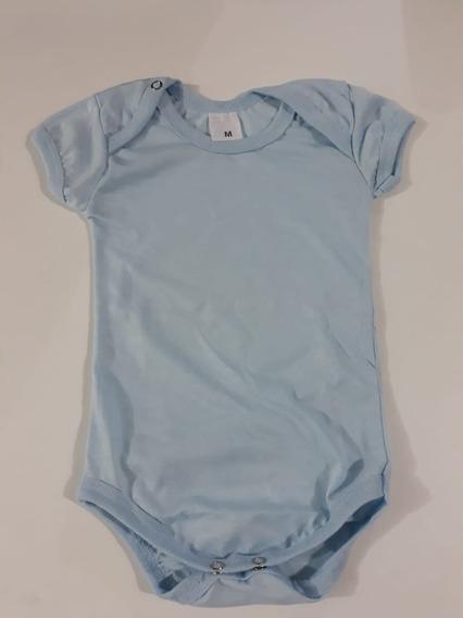 10 Body Para Bebe Azul Claro 100% Poliester Para Sublimação