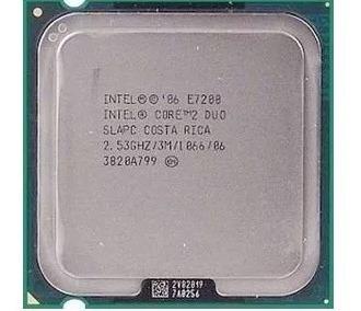 Processador 775 Intel Core 2 Duo E7200 2,53ghz 3m 1066 100%