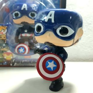 Capitán América Muñeco Cabezon 10 Cm Ti/funko Avengers Artic