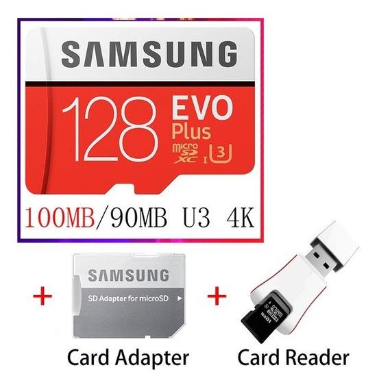 Cartão Micro Sd Samsung Evo Plus 128 Gb 4k U3 C10 S10 S9 +