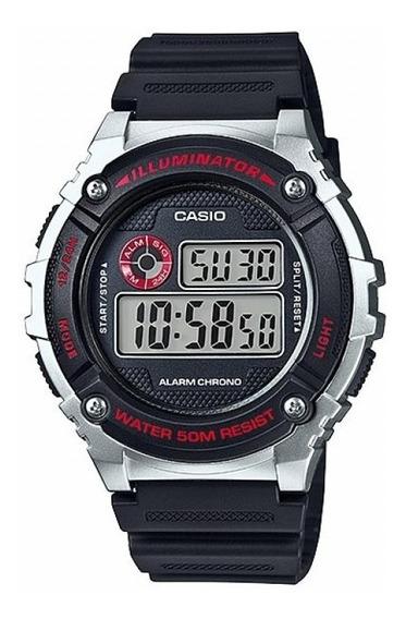Relogio Casio W216h-cores Digital Alarme Wr50m Resistente