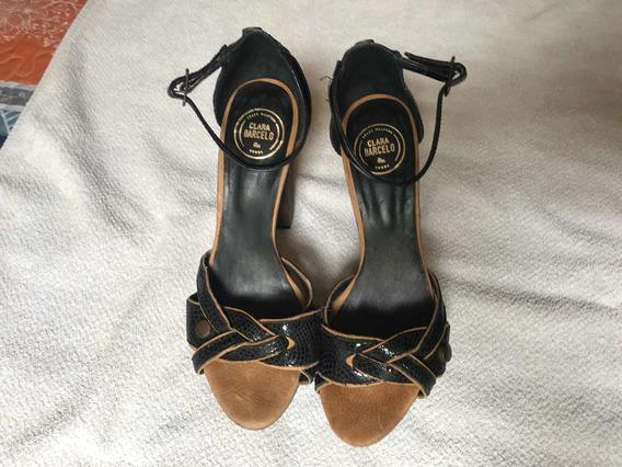 Zapatos Taco Clara Barcelo 38 Modelo Unico Excelentes