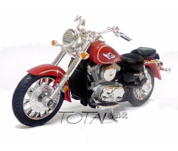 Kawasaki Vulcan 1500 Classic 2002 1:18 Welly Moto Promoção