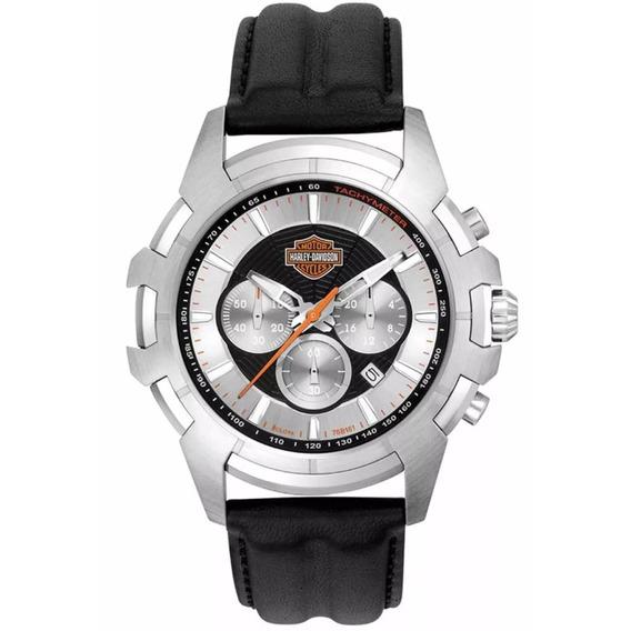 Relógio Masculino Bulova Harley Davidson Wh30279t - Prata