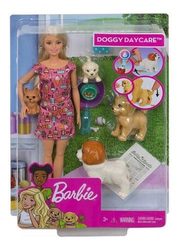 Barbie Cuidado De Perritos Guardería Doggy Daycare Oferta
