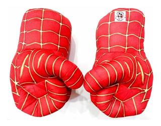 Puños Hombre Araña Peluche X2