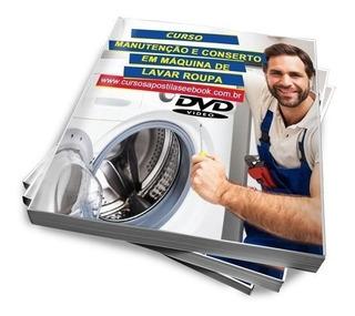 Curso 11 Dvds Manutenção Em Maquinas De Lavar Roupas