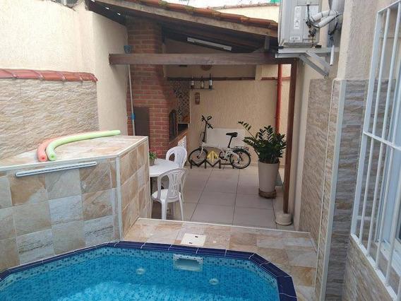 Casa Com 3 Dormitórios À Venda, 160 M² - Marapé - Santos/sp - Ca0216