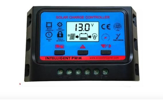 Controlador De Carga Usb 20a 12v/24v Pwm Para Painel Solar