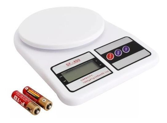 Balanza Digital De Cocina Tara 1gr A 10 Kg Con Pilas En Caja