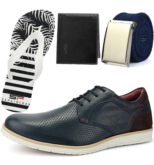 Sapatênis Sapato Casual Oxford Veneza Sapatofran Chinelo+kit