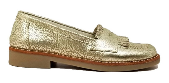 Mocasines Mujer Cuero Goma Zapatos Cristina Tibay Calzados