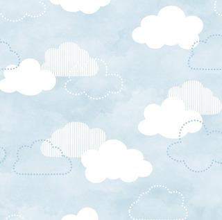 Papel De Parede Nuvens Azul, Rosa Ou Cinza Adcorista 8ee8bf