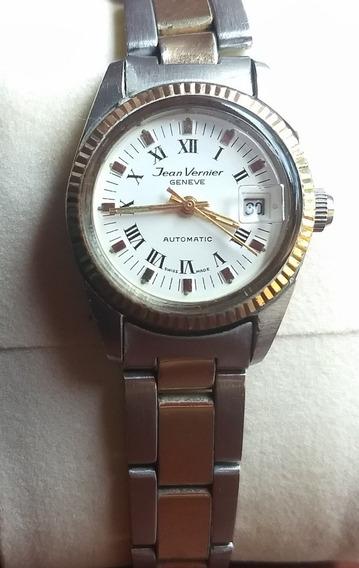 Relógio Feminino Jean Vernier Geneve Automátic Swiss 416111