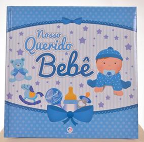 Álbum Diário Do Bebê Menino Azul 10x15