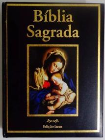 Bíblia Sagrada Nossa Senhora - Edição Luxo Capa Preta
