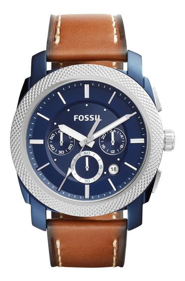 Relógio Fossil Masculino Com Pulseira De Couro Fs5232/oan