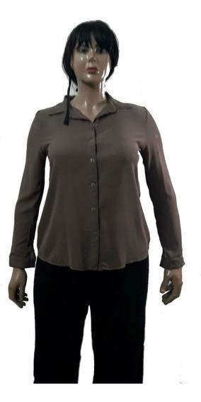Camisa Gasa Gruesita No Transparenta Mucho Talle Amplio