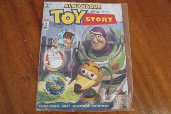 Revista Abril Toy Story Almanaque / Hq Colorir Passatempos