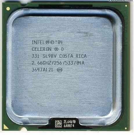 Processador Intel Celeron D - 331 - 2.66ghz -256 - 533 / 775