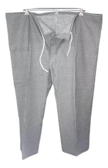 Pantalon Pijama Invierno Con Botones T. 58 60 Bolsillo Atras