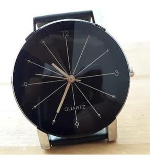 Reloj Pulsera Estrella Faceteado Tendencia Unisex Negro