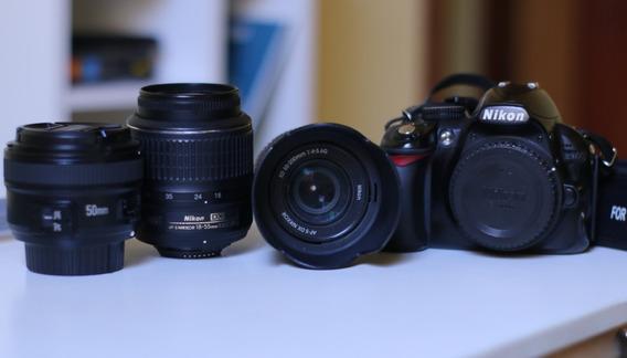 Nikon D3100 + Lente 18-55, 55-200 E 50mm Tempo Limitado