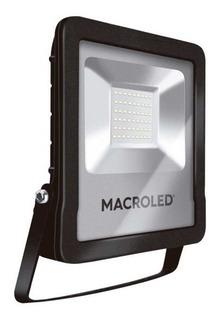 Reflector Led Macroled 50w 220v Frio Alta Potencia Exterior