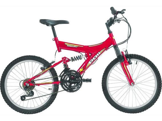 Bicicleta Polimet Kanguru Full Suspension Aro 20 V-brake In