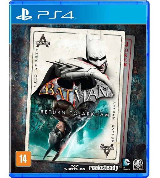 Batman Return To Arkham Ps4 Jogo Mídia Física Português